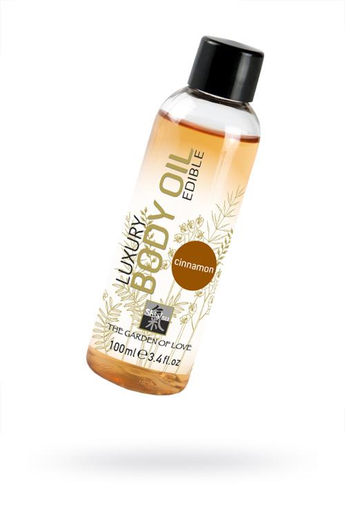 Съедобное масло для тела с ароматом корицы 100 мл, Категория - Интимная косметика/Средства для массажа/Гели и масла, Атрикул 0T-00000844 Изображение 1
