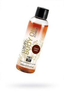 Съедобное масло для тела с шоколадно-мятным ароматом 100 мл, Категория - Интимная косметика/Средства для массажа/Гели и масла, Атрикул 0T-00000869 Изображение 1