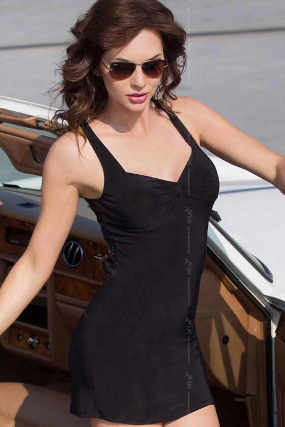 M/L Pearl - Платье с открытой спиной черное-M/L, Категория - Белье и одежда/Женская одежда и белье/Эротические платья, юбки, Атрикул 0T-00001830 Изображение 2