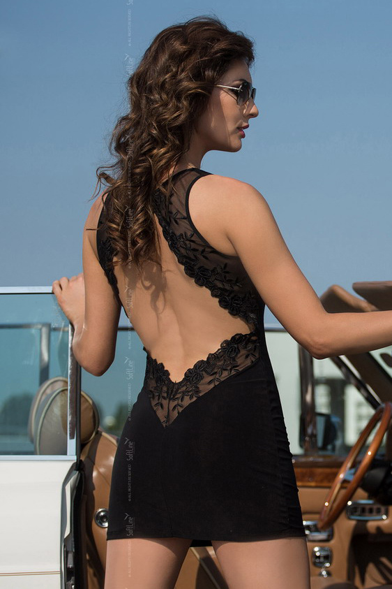 M/L Pearl - Платье с открытой спиной черное-M/L, Категория - Белье и одежда/Женская одежда и белье/Эротические платья, юбки, Атрикул 0T-00001830 Изображение 1