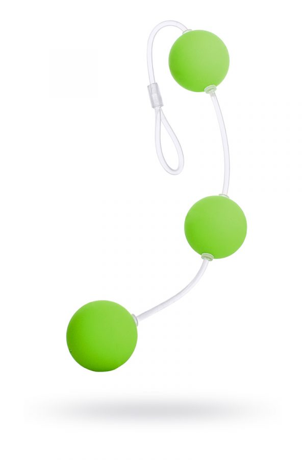 Анальные шарики Sexus Funny Five, ABS пластик, зеленые, 19,5 см, Категория - Секс-игрушки/Анальные игрушки/Анальные шарики, цепочки, елочки, Атрикул 0T-00000485 Изображение 1