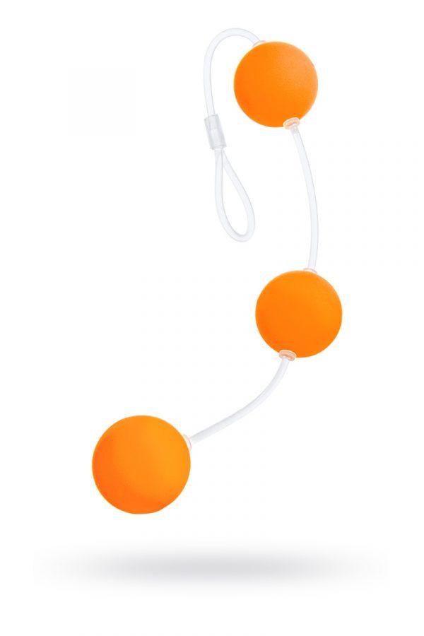 Анальные шарики Sexus Funny Five, ABS пластик, оранжевые, 19,5 см, Категория - Секс-игрушки/Анальные игрушки/Анальные шарики, цепочки, елочки, Атрикул 0T-00000482 Изображение 1