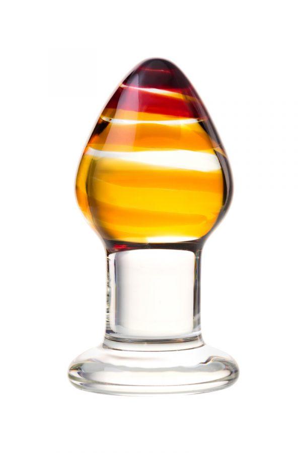 Анальная втулка Sexus Glass, Стекло, Прозрачный, 9 см, Категория - Секс-игрушки/Анальные игрушки/Анальные пробки и втулки, Атрикул 00138458 Изображение 2