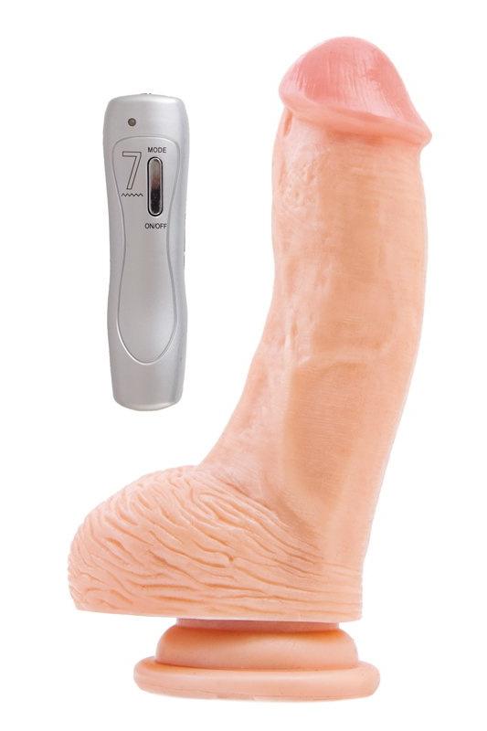 Вибратор RealStick #107 телесный, 7 режимов вибрации, 15 см, Категория - Секс-игрушки/Вибраторы/Реалистичные вибраторы, Атрикул 0T-00000810 Изображение 1