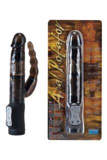 Вибратор с анальным стимуляторм черный 15 см, Категория - Секс-игрушки/Вибраторы/Анально-вагинальные вибраторы, Атрикул 00130468 Изображение 1