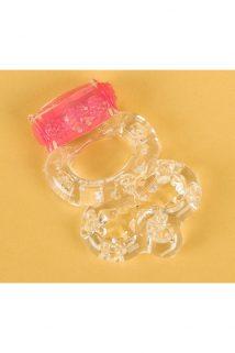 Виброкольцо TOYFA, TPE, прозрачный, Категория - Секс-игрушки/Кольца и насадки/Кольца на пенис, Атрикул 00138530 Изображение 1