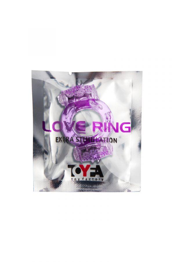 Эрекционное кольцо на пенис с двойной вибрациейTOYFA, TPE, фиолетовый, Категория - Секс-игрушки/Кольца и насадки/Кольца на пенис, Атрикул 00138510 Изображение 2