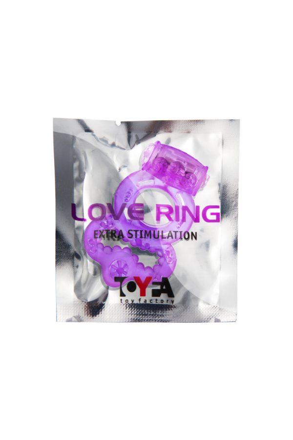 Виброкольцо TOYFA, TPE, фиолетовый, Категория - Секс-игрушки/Кольца и насадки/Кольца на пенис, Атрикул 00138529 Изображение 2