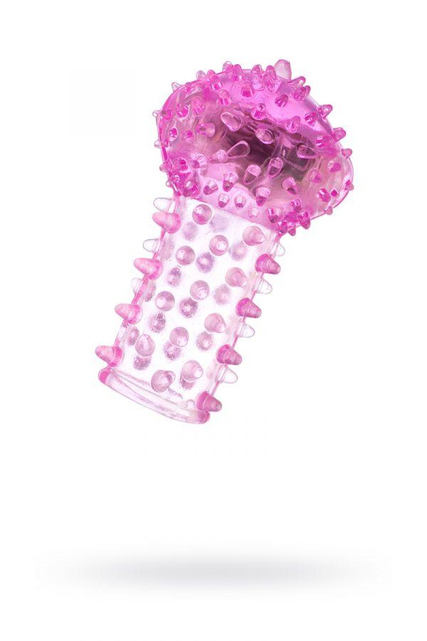 Вибронасадка на палец TOYFA, TPE, розовый, 6,5 см, Категория - Секс-игрушки/Кольца и насадки/Насадки на пальцы, Атрикул 00138520 Изображение 1