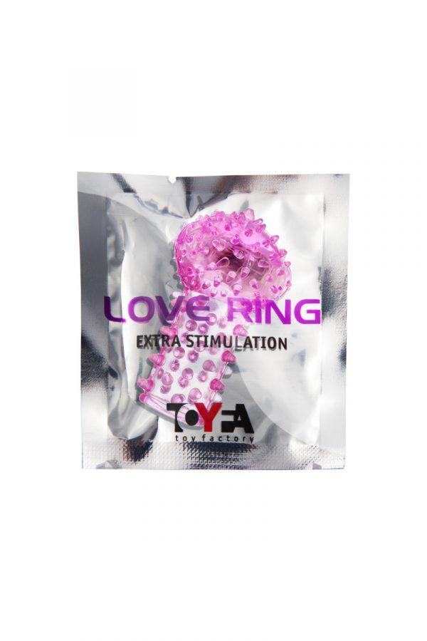 Вибронасадка на палец TOYFA, TPE, розовый, 6,5 см, Категория - Секс-игрушки/Кольца и насадки/Насадки на пальцы, Атрикул 00138520 Изображение 2