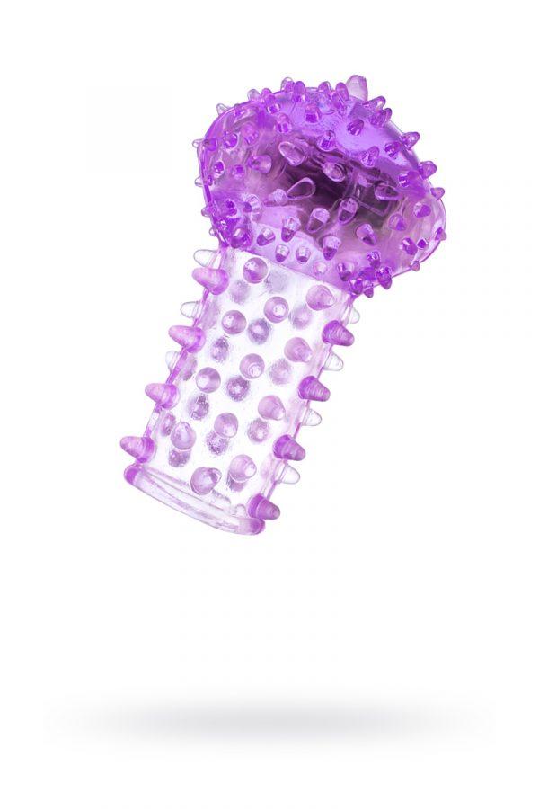 Вибронасадка на палец TOYFA, TPE, фиолетовый, 6,5 см, Категория - Секс-игрушки/Кольца и насадки/Насадки на пальцы, Атрикул 00138519 Изображение 1