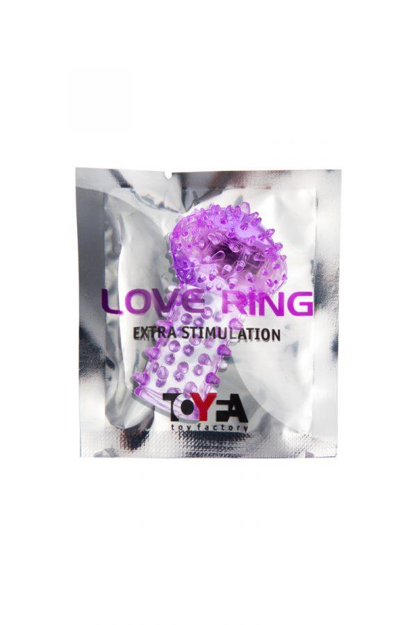 Вибронасадка на палец TOYFA, TPE, фиолетовый, 6,5 см, Категория - Секс-игрушки/Кольца и насадки/Насадки на пальцы, Атрикул 00138519 Изображение 2