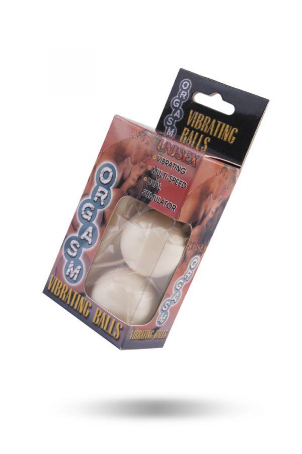 Вагинальные шарики Dream Toys с вибрацией, белые, Ø3,5 см, Категория - Секс-игрушки/Вагинальные шарики и тренажеры интимных мышц/Вагинальные шарики, Атрикул 00010061 Изображение 3