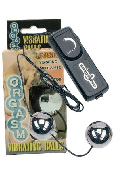 Вагинальные шарики Dream Toys с вибрацией, серебристые, Ø3,5 см, Категория - Секс-игрушки/Вагинальные шарики и тренажеры интимных мышц/Вагинальные шарики, Атрикул 00006944 Изображение 1