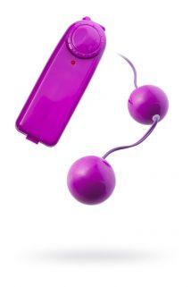 Вагинальные шарики с вибрацией TOYFA , ABS пластик, фиолетовый, 12,2 см, Категория - Секс-игрушки/Вагинальные шарики и тренажеры интимных мышц/Вагинальные шарики, Атрикул 00129803 Изображение 1