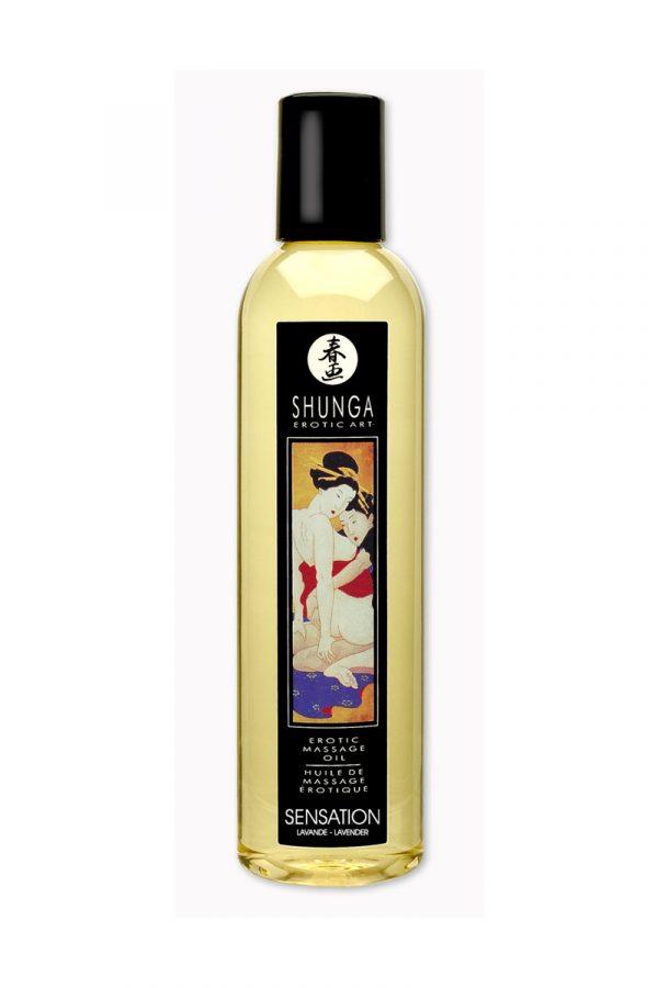 Массажное масло Shunga Лаванда, возбуждающее, натуральное, 250 мл, Категория - Интимная косметика/Средства для массажа/Гели и масла, Атрикул 00012354 Изображение 1