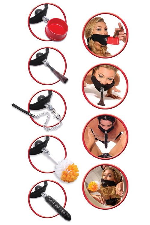 Кляп+набор из 5 предметов, Категория - БДСМ, фетиш/Кляпы/Кляпы классические, Атрикул 00137727 Изображение 3