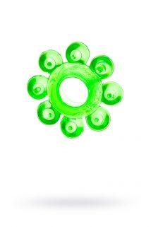 Эрекционное кольцо на пенис TOYFA, TPE, зеленый, Категория - Секс-игрушки/Кольца и насадки/Кольца на пенис, Атрикул 00138543 Изображение 1