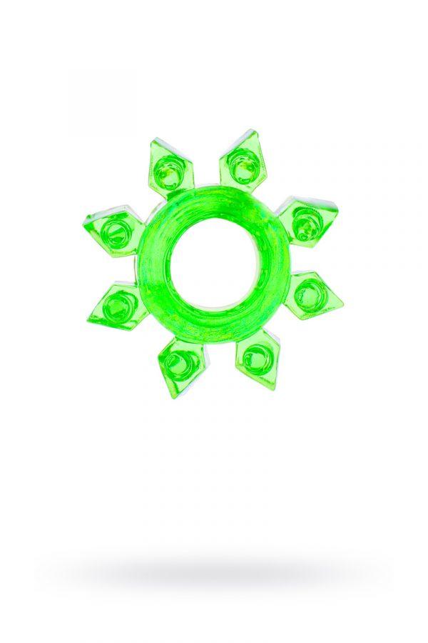 Эрекционное кольцо на пенис TOYFA, TPE, зеленый, Категория - Секс-игрушки/Кольца и насадки/Кольца на пенис, Атрикул 00138547 Изображение 1