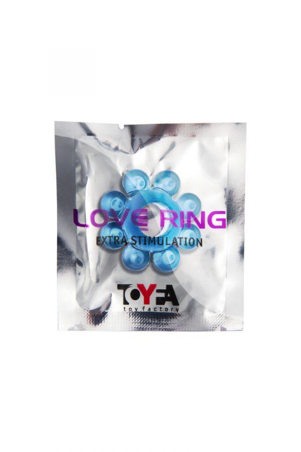 Эрекционное кольцо на пенис TOYFA, TPE, синий, Категория - Секс-игрушки/Кольца и насадки/Кольца на пенис, Атрикул 00138541 Изображение 2