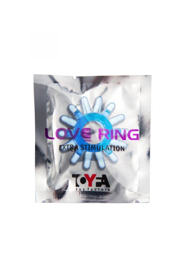 Эрекционное кольцо TOYFA, TPE, синий, Категория - Секс-игрушки/Кольца и насадки/Кольца на пенис, Атрикул 00138555 Изображение 2