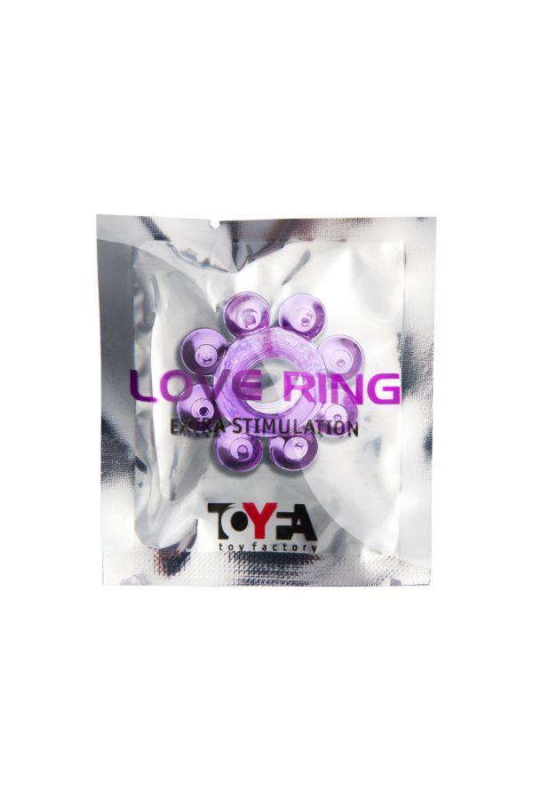 Эрекционное кольцо на пенис TOYFA, TPE, фиолетовый, Категория - Секс-игрушки/Кольца и насадки/Кольца на пенис, Атрикул 00138540 Изображение 2