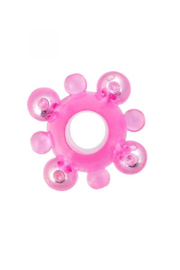 Эрекционное кольцо с бусинками TOYFA, TPE, розовый, Категория - Секс-игрушки/Кольца и насадки/Кольца на пенис, Атрикул 00132664 Изображение 2