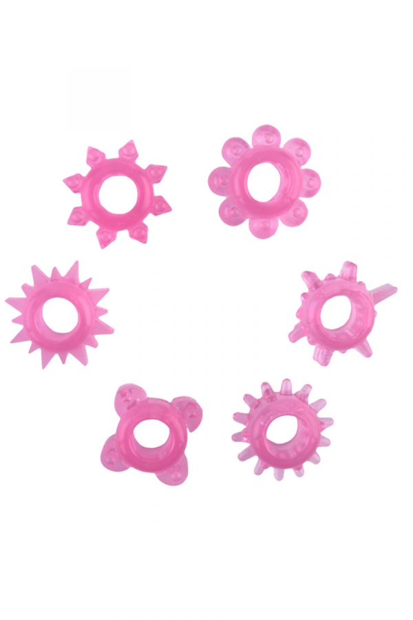 Набор колец на пенис 6 шт TOYFA, TPE, розовый, Категория - Секс-игрушки/Кольца и насадки/Наборы колец и насадок, Атрикул 00137292 Изображение 2