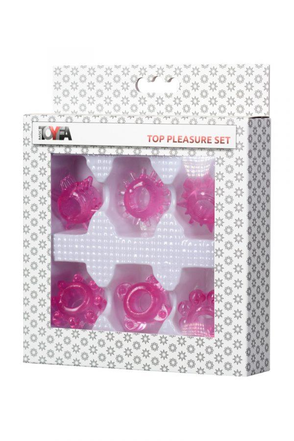Набор колец на пенис 6 шт TOYFA, TPE, розовый, Категория - Секс-игрушки/Кольца и насадки/Наборы колец и насадок, Атрикул 00137292 Изображение 3