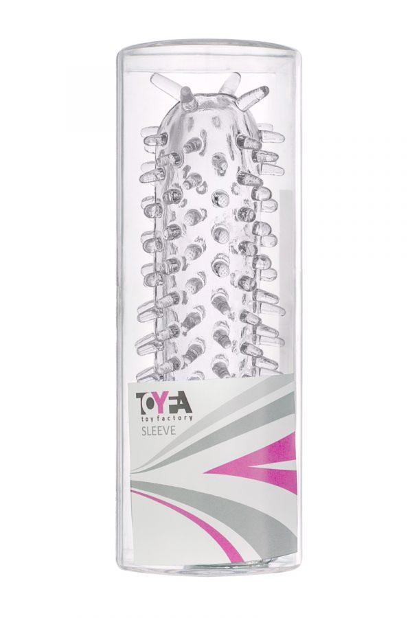 Насадка TOYFA, TPE, прозрачнывй, 12 см, Категория - Секс-игрушки/Кольца и насадки/Насадки на пенис, Атрикул 00138807 Изображение 2