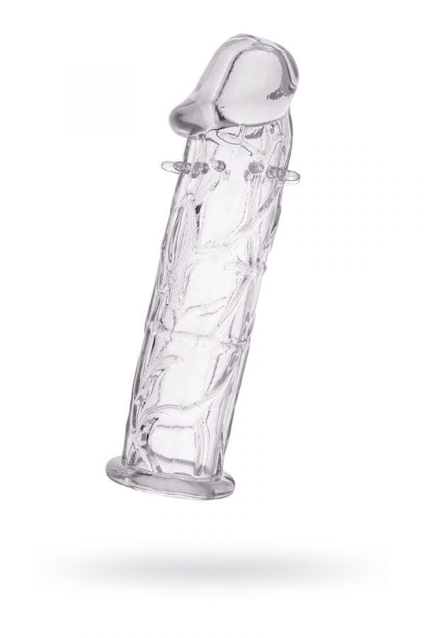 Насадка TOYFA, TPE, прозрачный, 12, 5 см, Категория - Секс-игрушки/Кольца и насадки/Насадки на пенис, Атрикул 00138813 Изображение 1