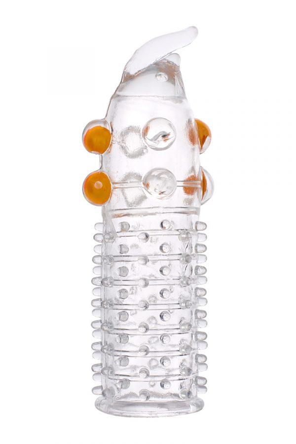 Насадка с шариками TOYFA, TPE, прозрачный, 13 см, Категория - Секс-игрушки/Кольца и насадки/Насадки на пенис, Атрикул 00138798 Изображение 3