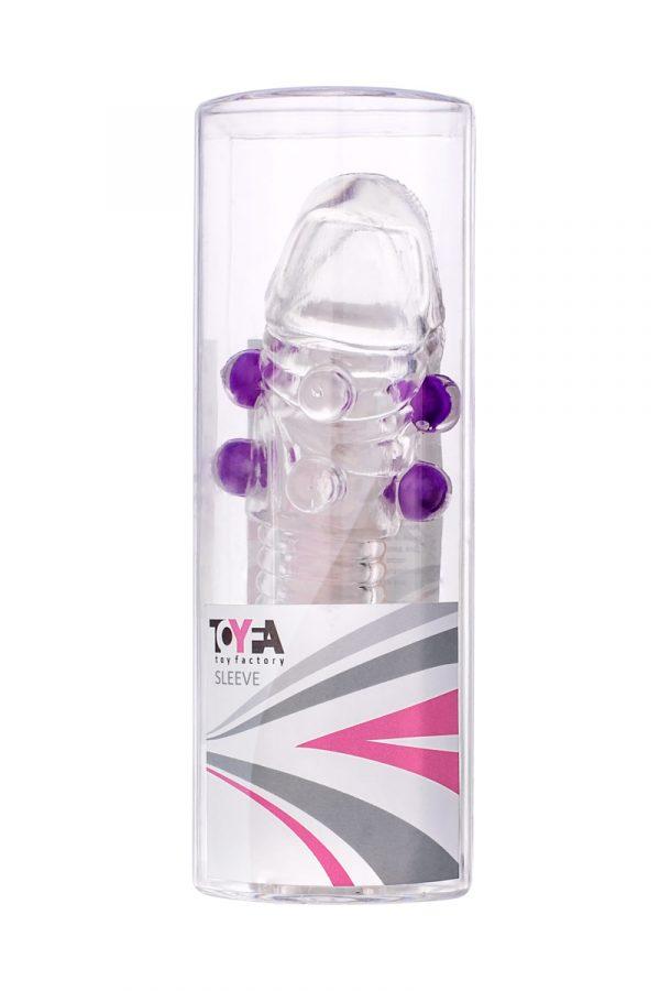 Насадка с шариками TOYFA, TPE, прозрачный, 14 см, Категория - Секс-игрушки/Кольца и насадки/Насадки на пенис, Атрикул 00138801 Изображение 3