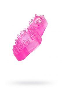 Кольцо TOYFA с шариком,TPE,   розовый, Категория - Секс-игрушки/Кольца и насадки/Кольца на пенис, Атрикул 00132661 Изображение 1