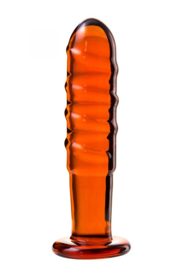 Нереалистичный фаллоимитатор Sexus Glass, Стекло, Красный, 14 см, Категория - Секс-игрушки/Фаллоимитаторы/Нереалистичные фаллоимитаторы, Атрикул 00138479 Изображение 2