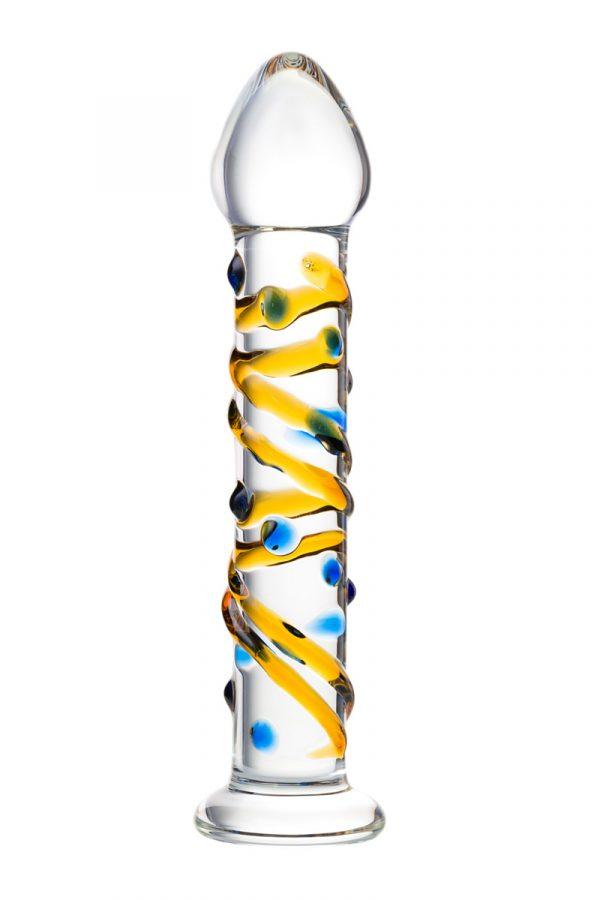 Нереалистичный фаллоимитатор Sexus Glass, Стекло, Прозрачный, 17,2 см, Категория - Секс-игрушки/Фаллоимитаторы/Нереалистичные фаллоимитаторы, Атрикул 00138499 Изображение 3