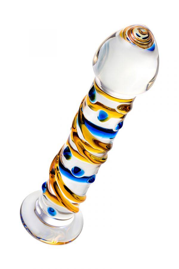 Нереалистичный фаллоимитатор Sexus Glass, Стекло, Прозрачный, 17,2 см, Категория - Секс-игрушки/Фаллоимитаторы/Нереалистичные фаллоимитаторы, Атрикул 00138499 Изображение 2