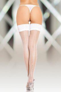 2-M Чулки-сетка со шовом SoftLine Collection, белый, M, Категория - Белье и одежда/Чулки и колготки/Чулки, Атрикул 00139874 Изображение 1