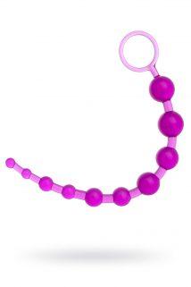 Шарики анальные TOYFA, PVC, фиолетовый, 30 см, Категория - Секс-игрушки/Анальные игрушки/Анальные шарики, цепочки, елочки, Атрикул 00137306 Изображение 1