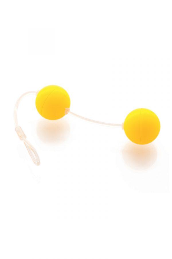 Вагинальные шарики Sexus Funny Five, ABS пластик, Желтый, Ø 3 см, Категория - Секс-игрушки/Вагинальные шарики и тренажеры интимных мышц/Вагинальные шарики, Атрикул 0T-00000481 Изображение 1