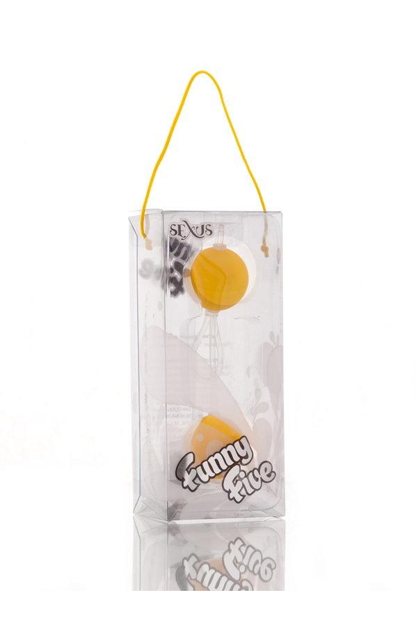 Вагинальные шарики Sexus Funny Five, ABS пластик, Желтый, Ø 3 см, Категория - Секс-игрушки/Вагинальные шарики и тренажеры интимных мышц/Вагинальные шарики, Атрикул 0T-00000481 Изображение 2