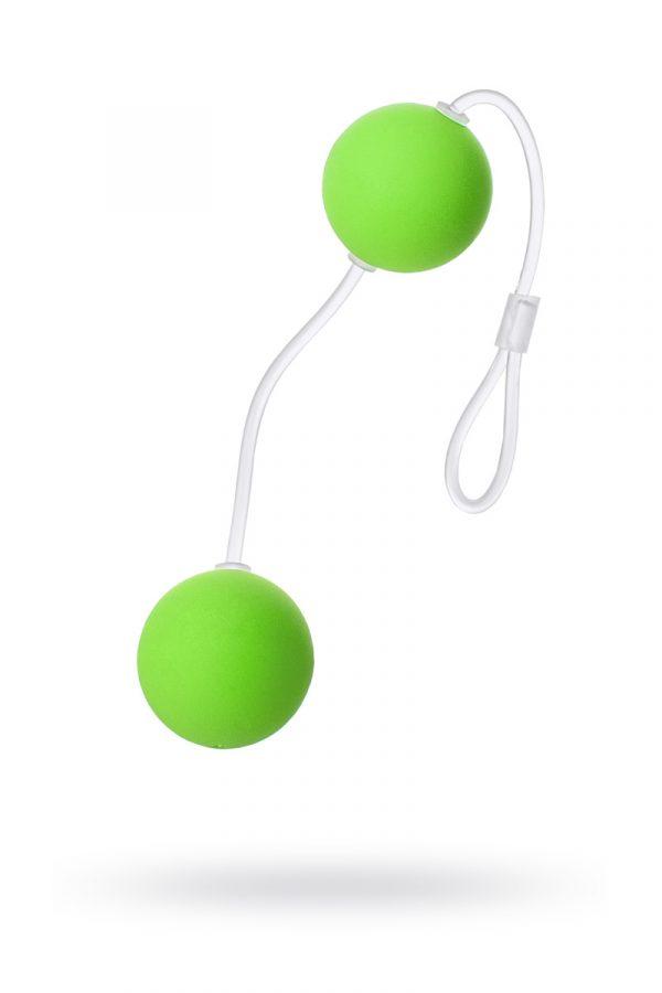 Вагинальные шарики Sexus Funny Five, ABS пластик, Зеленый, Ø 3 см, Категория - Секс-игрушки/Вагинальные шарики и тренажеры интимных мышц/Вагинальные шарики, Атрикул 0T-00000480 Изображение 1