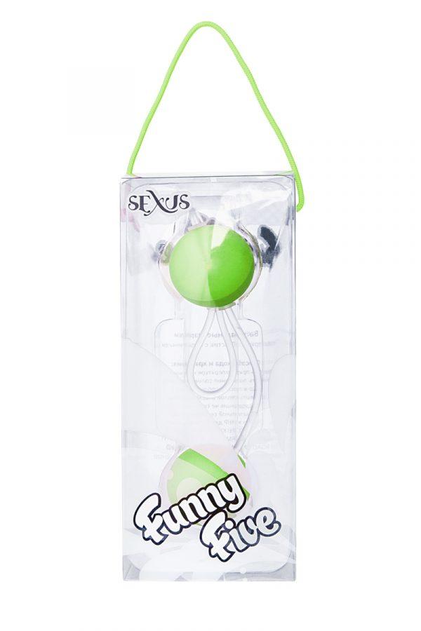 Вагинальные шарики Sexus Funny Five, ABS пластик, Зеленый, Ø 3 см, Категория - Секс-игрушки/Вагинальные шарики и тренажеры интимных мышц/Вагинальные шарики, Атрикул 0T-00000480 Изображение 2