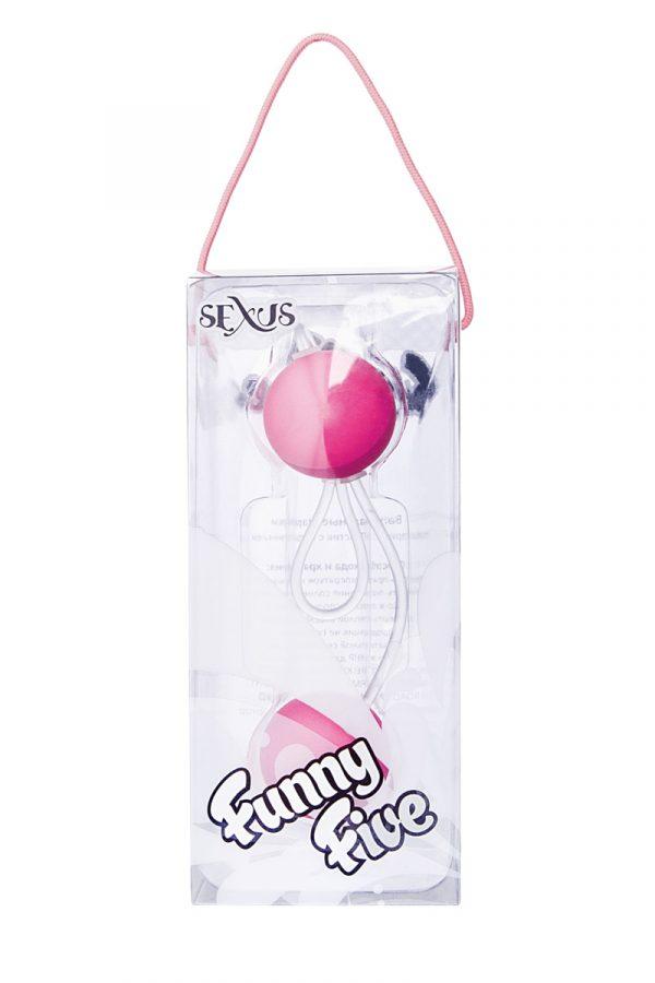 Вагинальные шарики Sexus Funny Five, ABS пластик, Розовый, Ø 3 см, Категория - Секс-игрушки/Вагинальные шарики и тренажеры интимных мышц/Вагинальные шарики, Атрикул 0T-00000476 Изображение 2