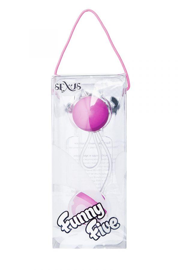 Вагинальные шарики Sexus Funny Five, ABS пластик, Фиолетовый, Ø 3 см, Категория - Секс-игрушки/Вагинальные шарики и тренажеры интимных мышц/Вагинальные шарики, Атрикул 0T-00000479 Изображение 2