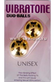 Вагинальные шарики Dream Toys, золотистые, Ø3,5 см, Категория - Секс-игрушки/Вагинальные шарики и тренажеры интимных мышц/Вагинальные шарики, Атрикул 00128756 Изображение 1