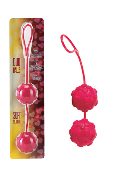Вагинальные шарики Dream Toys с дополнительной стимуляцией, красные, Ø3,5 см, Категория - Секс-игрушки/Вагинальные шарики и тренажеры интимных мышц/Вагинальные шарики, Атрикул 00130458 Изображение 1