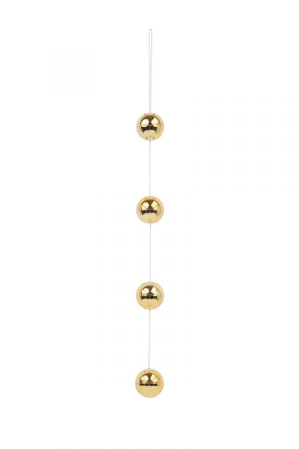 Вагинальные шарики Dream Toys со смещенным центром тяжести, ABS пластик, золотые, 4 шт., Ø3,5 см, Категория - Секс-игрушки/Вагинальные шарики и тренажеры интимных мышц/Вагинальные шарики, Атрикул 00010057 Изображение 2