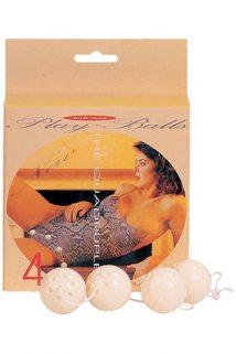 Вагинальные шарики Dream Toys, ABS пластик, белые, 4 шт, Ø3,5 см, Категория - Секс-игрушки/Вагинальные шарики и тренажеры интимных мышц/Вагинальные шарики, Атрикул 00006918 Изображение 1