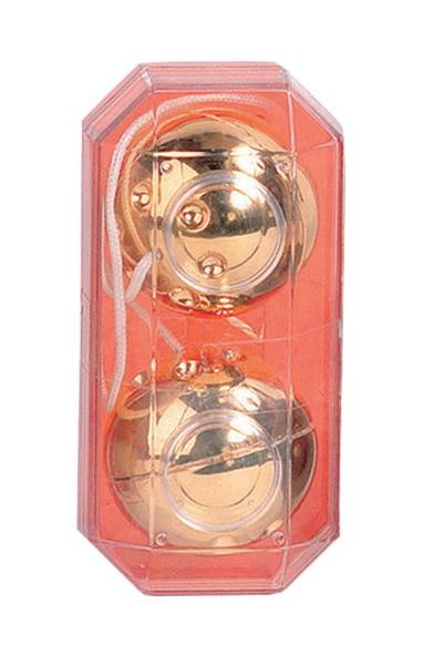 Вагинальные шарики золото 3,5 см, Категория - Секс-игрушки/Вагинальные шарики и тренажеры интимных мышц/Вагинальные шарики, Атрикул 00128683 Изображение 1